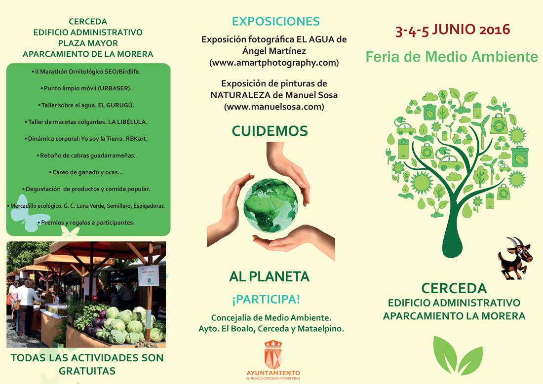 Tríptico Feria de Medio Ambiente 1